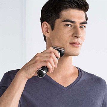 Electric Shaver in Use