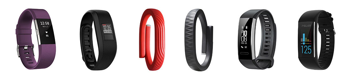 Different Fitness Trackers