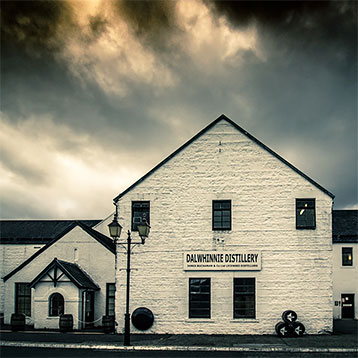Dalwhinnie Distillery in Scotland